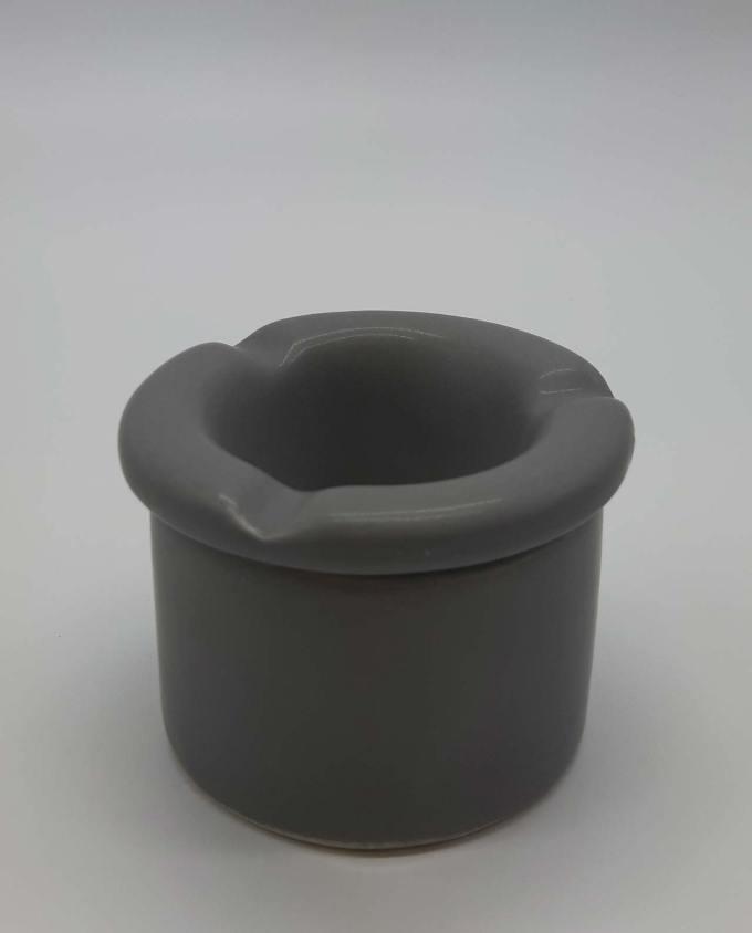 Ashtray ceramic light gray diameter 10 cm