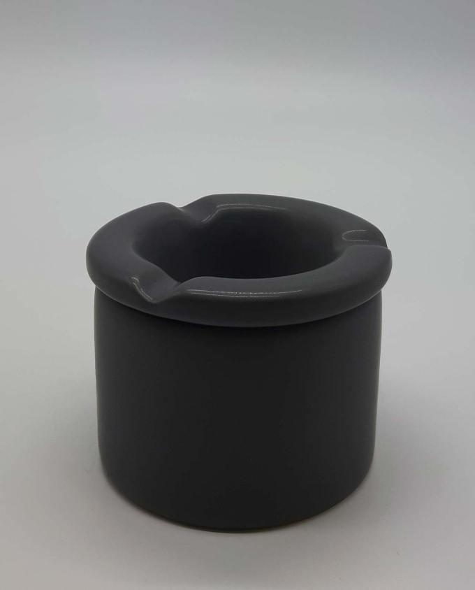 Τασάκι κεραμικό σκούρο γκρι διαμέτρου 10 cm