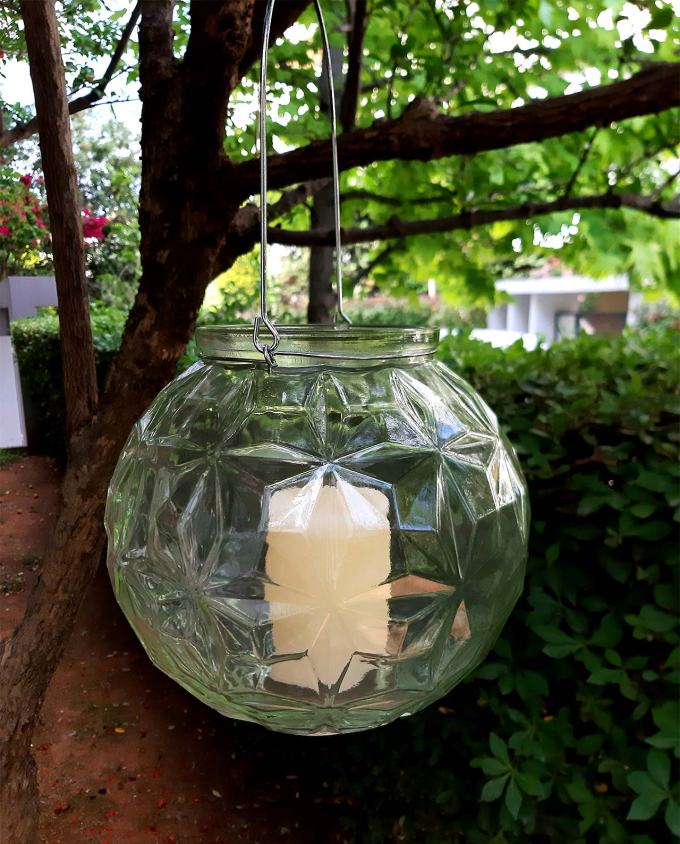 Lantern sphere glass diameter 20 cm