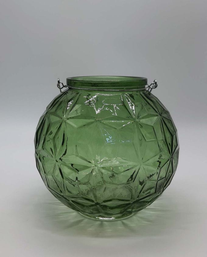 Lantern sphere glass green diameter 20 cm