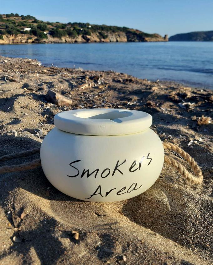 "Ashtray ""Smokers Area"" diameter 20 cm"