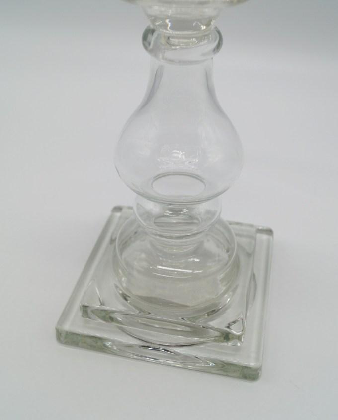 Κηροπήγιο Γυάλινο Διαφανές Ύψος 24 cm