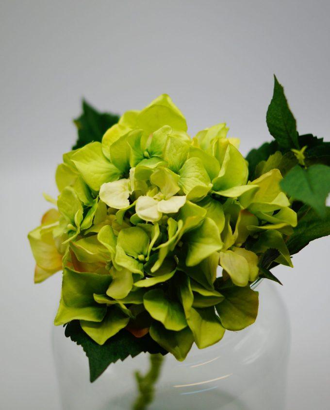 Hydrangea Fabric Beige height 38 cm