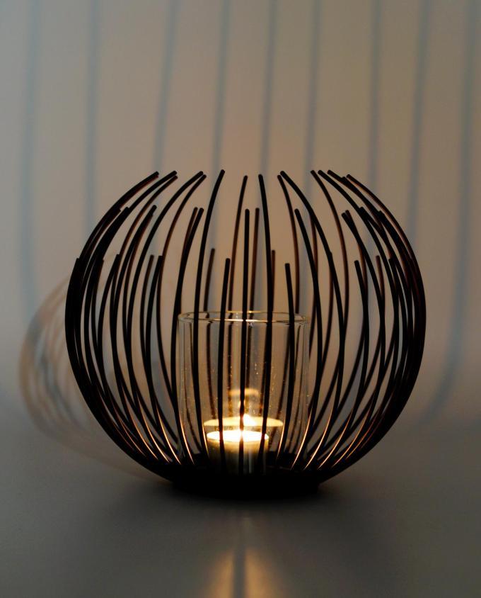 Lantern metal black diameter 20 cm