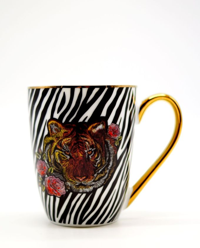 Mug Porcelain Tiger Head