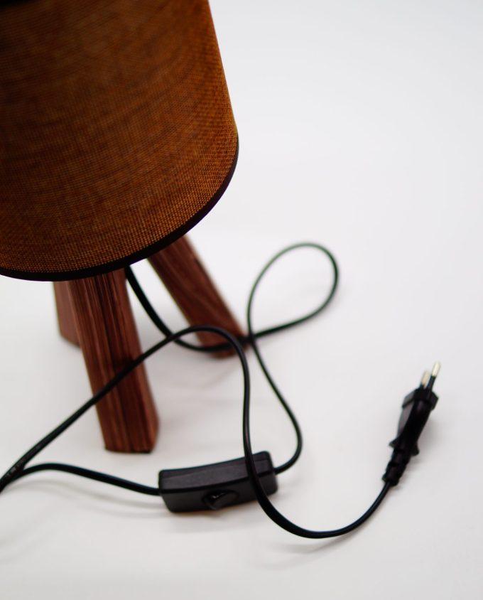 Table Lamp Brown Ceramic Base