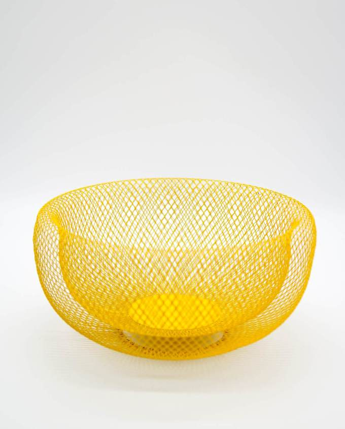 "Bowl Yellow Metal ""Kubrick"" Diameter 28 cm"