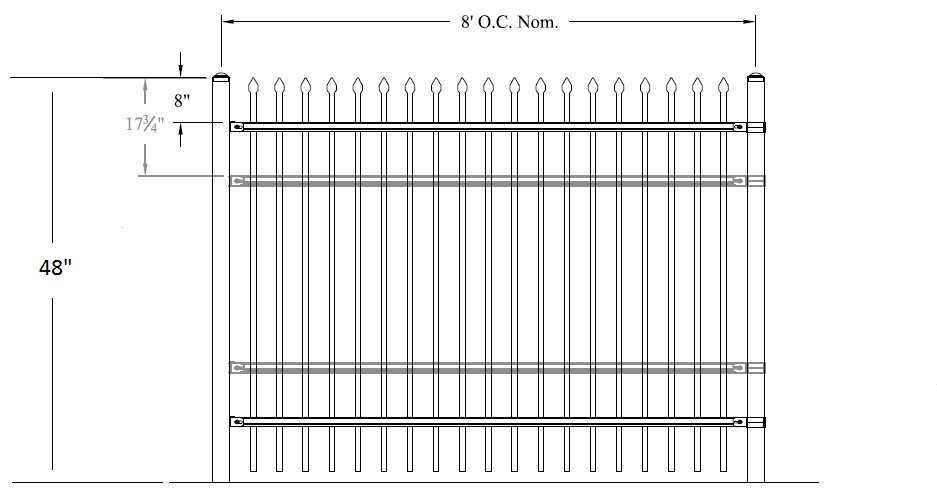 Classic Industrial Rackable Welded Steel Fence