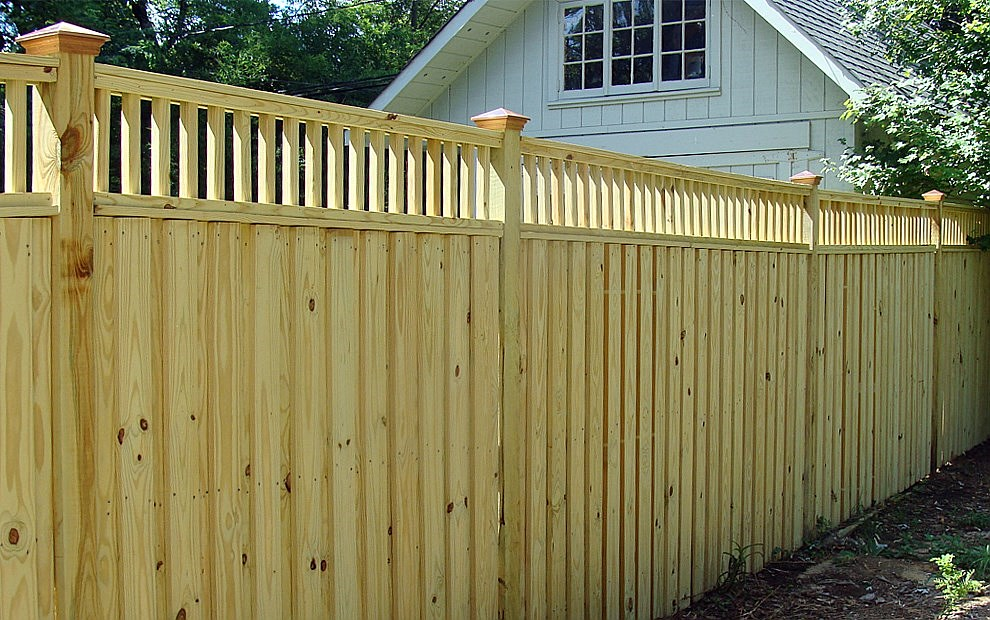 wood privacy fence photos