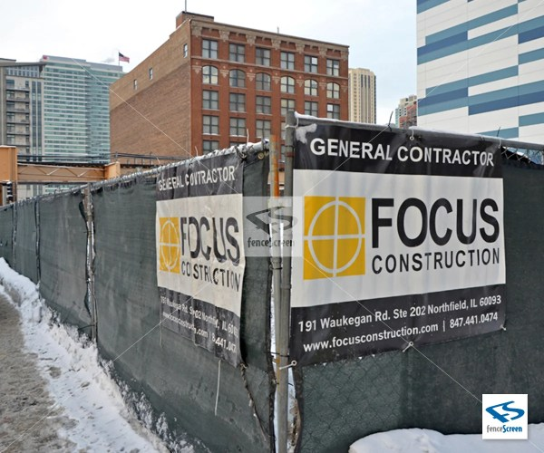 Custom Construction Banners & Company Logo Signs Job Sites