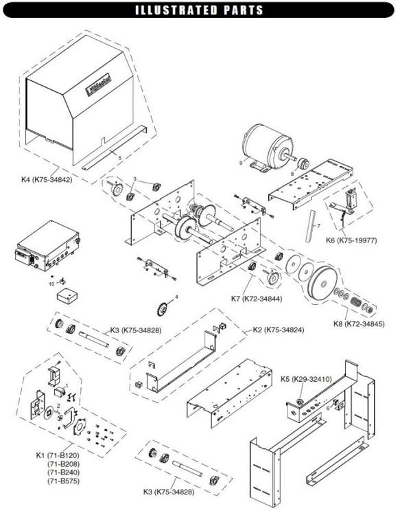 Liftmaster 24v Reversing Contactor For SL570/575