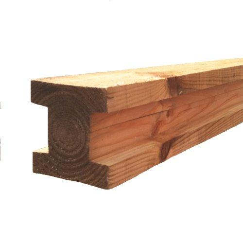 """4""""x4"""" Brown Timber Slotted Post - 6'"""