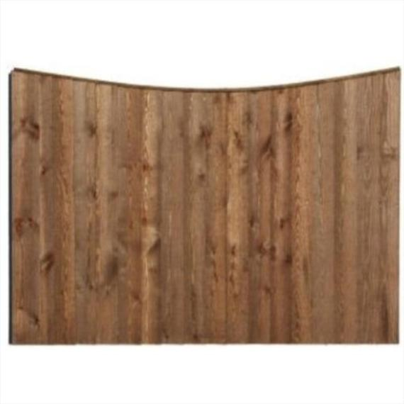 Concave Feather Edge Fence Panel - 6'x5'