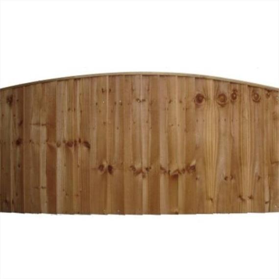 Convex Feather Edge Fence Panel - 6'x3'