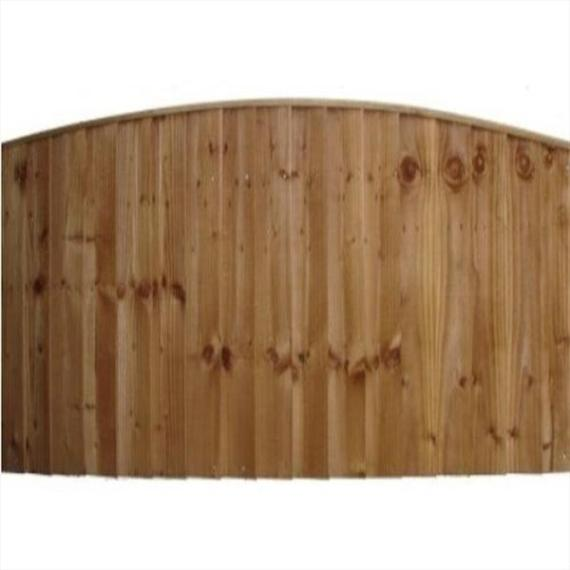 Convex Feather Edge Fence Panel - 6'x5'