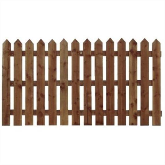 Pointed Top Picket Fence Panel - 6'x3'