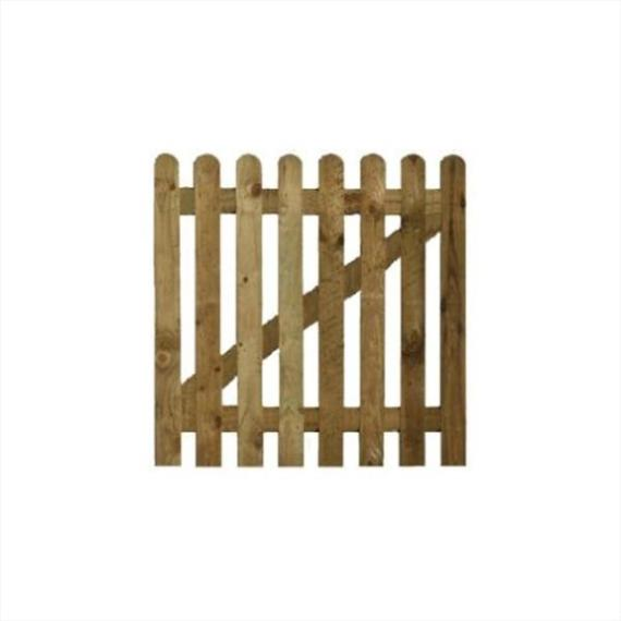 Round Top Picket Gate - 3'x3'