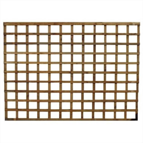 Square Trellis Fence Panel - 6'x5'