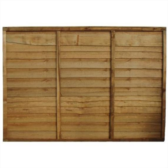 Waney Lap Fence Panel - 6'x5'