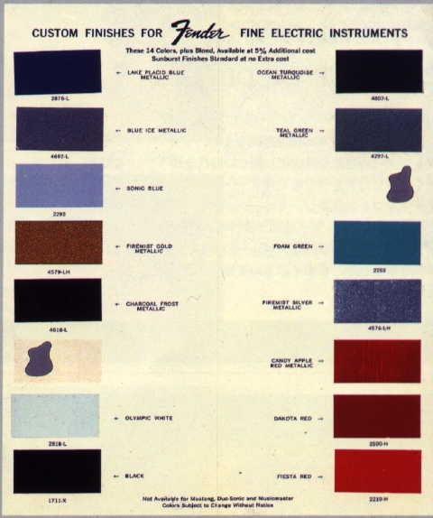 1965 Ford Mustang Interior Paint Codes