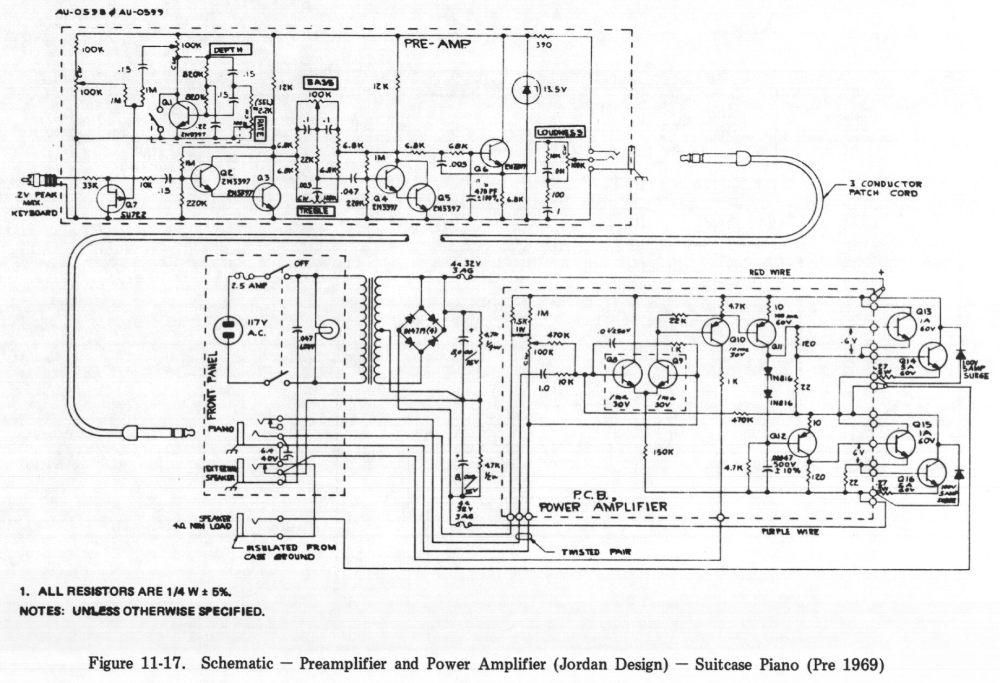 medium resolution of 11 17 schematic preamplifier and power amplifier jordan design suitcase piano pre 1969