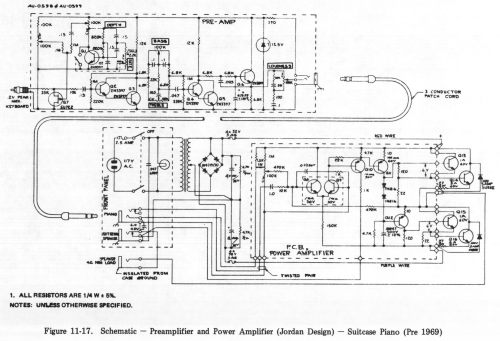 small resolution of 11 17 schematic preamplifier and power amplifier jordan design suitcase piano pre 1969