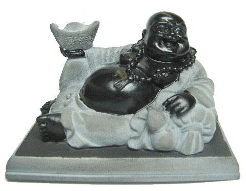 Lying Down Black Buddha Statue