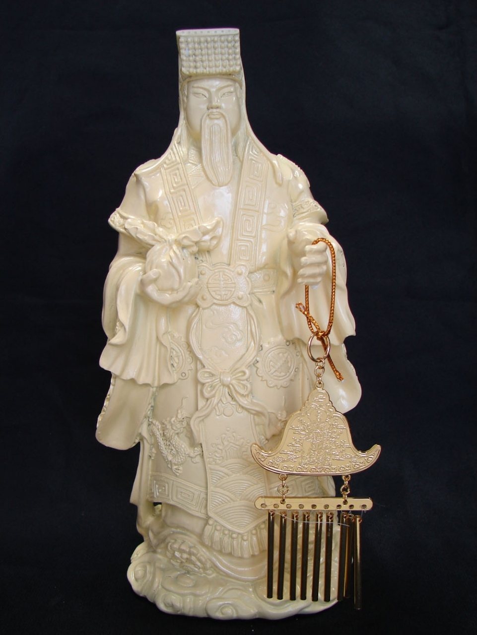 Jade Emperor with Sun Moon Windchime