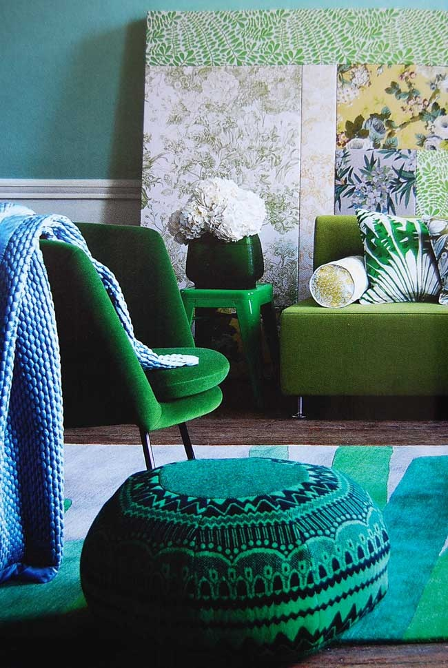 Blue Green Decor  Feng Shui Elements  Interior Design