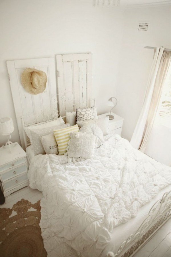 Bedroom Design Ideas White Shabby Chic Country Cottage Style