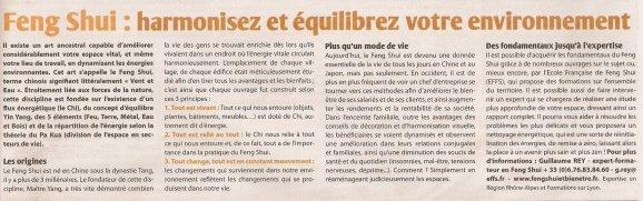 L'ECOLOMAG N°29 de Mai-Juin 2012 - Article « Feng Shui : Harmonisez et équilibrez votre environnement » écrit par Chris PALETTE
