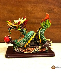 """It is a highly sought-after symbol and would make a great addition to any Feng Shui collection. Feng Shui Celestial Dragon, which is the most potent symbol of Yang, is one of the four celestial animals in Feng Shui. It is regarded as the """"Supreme Being"""" in comparison to all other worldly animals, because it can survive in any environment; the sea, the mountains and even the heavens. It is a mystical creature that has held emblem since ancient times, when it was believed to transfuse courage and heroism to the beholder."""