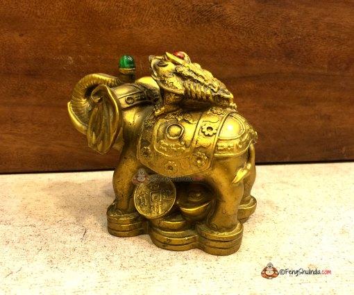 3 Legged Frog on Wish Fulfilling Elephant