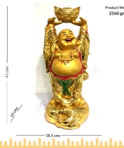 Laughing Buddha Lifting A Huge Ingot