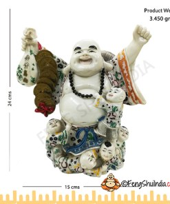 Laughing Buddha with Wealth and Children