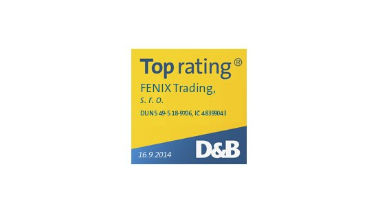 Fenix Trading S R O Has Obtained The Top Rating From The International Rating Company Dun Bradstreet The Db Logo Is Linked To Online Web Pages