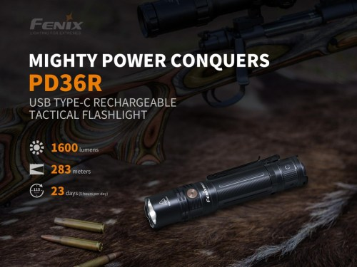 small resolution of fenix pd36r 1600 lumens rechargeable tactical flashlight
