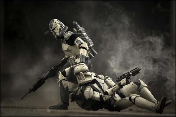 Des Stormtroopers Jouet Pour Reprsenter Les Combats De L