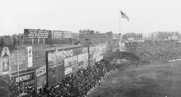 Fenway Park's Left Field Wall, circa 1914