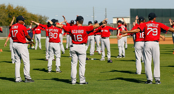 Boston Red Sox Spring Training Workout Session