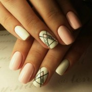 cute pink nail art design