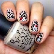 stylish leopard prints nail