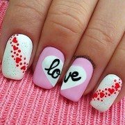 cute valentine nail art design