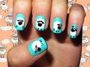 cute animal nail art prints