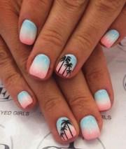 vivid summer nail art design