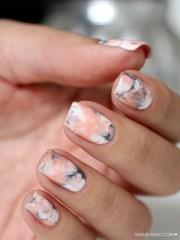 sassy marble nail art design