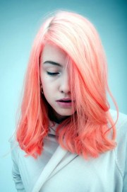graceful two tone hair color