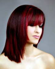 totally catchy burgundy hair