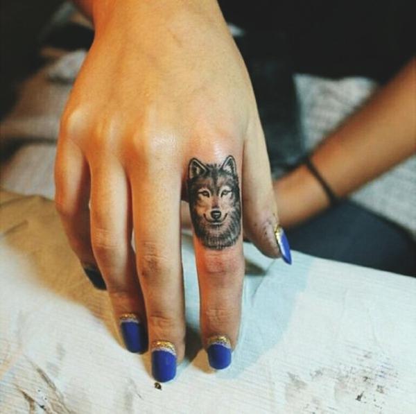 Native American Tribal Wolf Tattoo