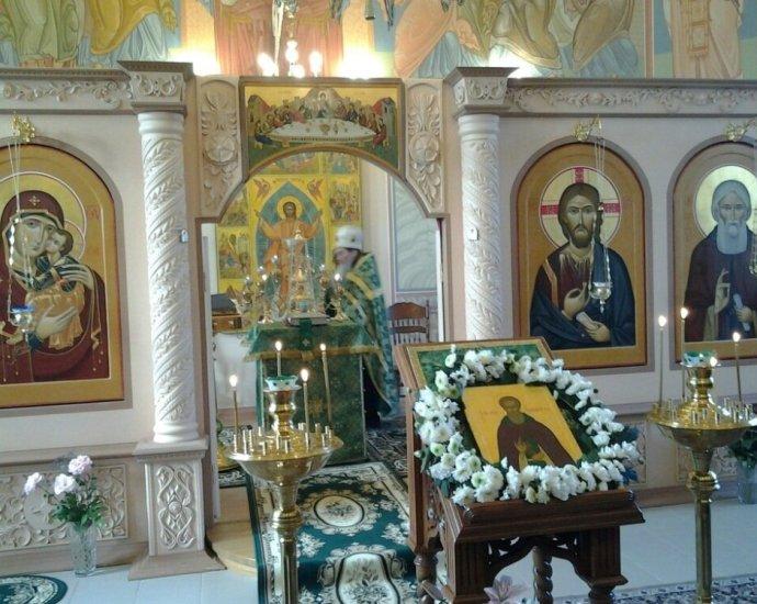 Первый престольный в храме прп. Сергия